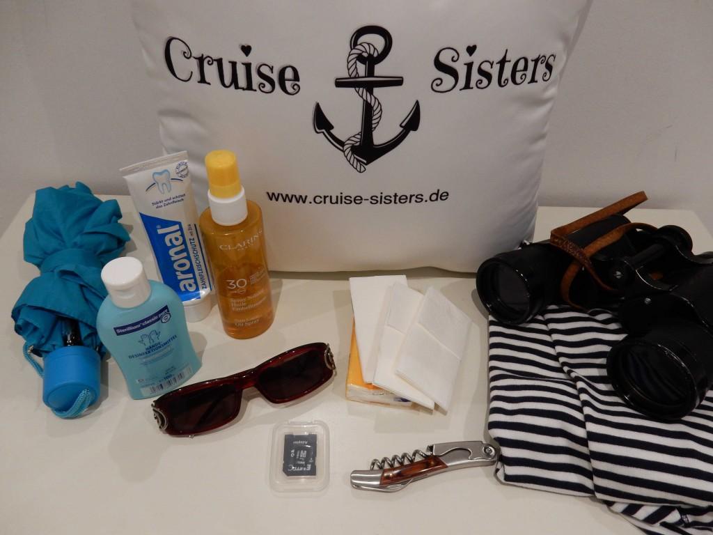 Dinge für die Kreuzfahrt zum einpacken