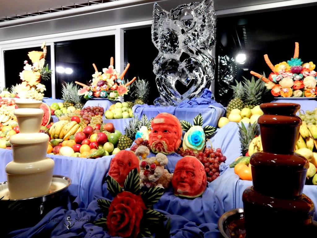 Schokoladenbuffet auf dem Kreuzfahrtschiff Mein Schiff 4