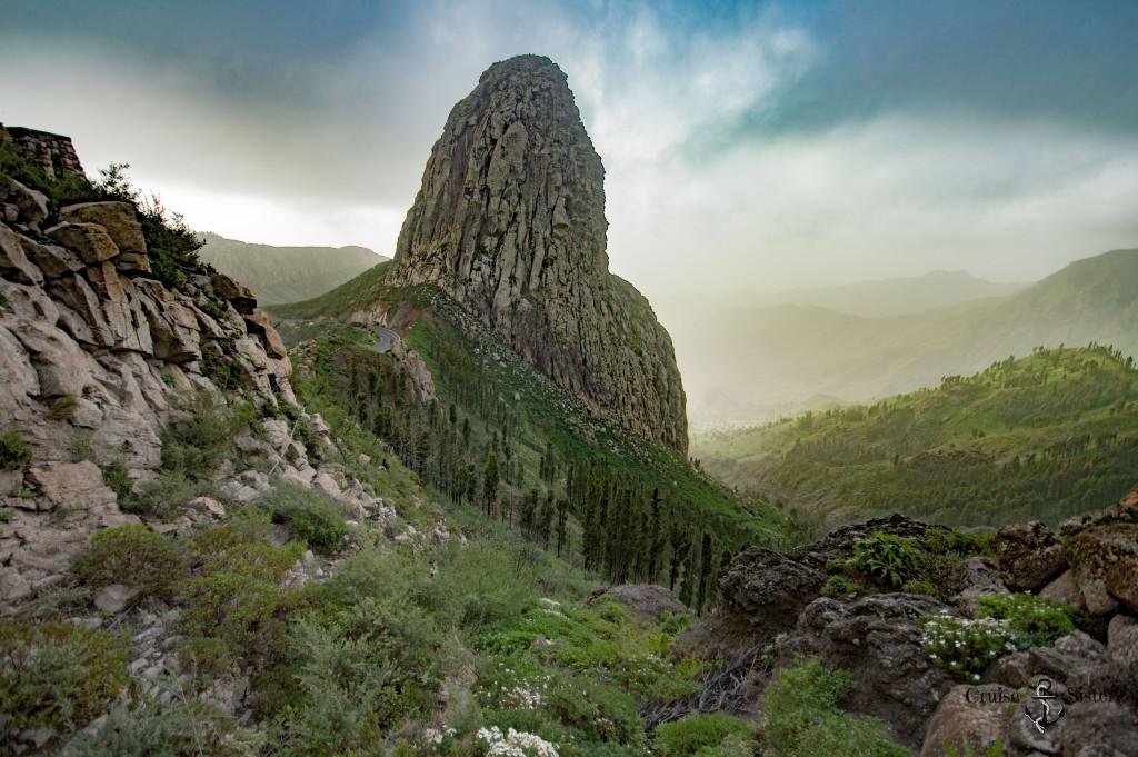 Gebirge im Mirador Los Roques auf La Gomera