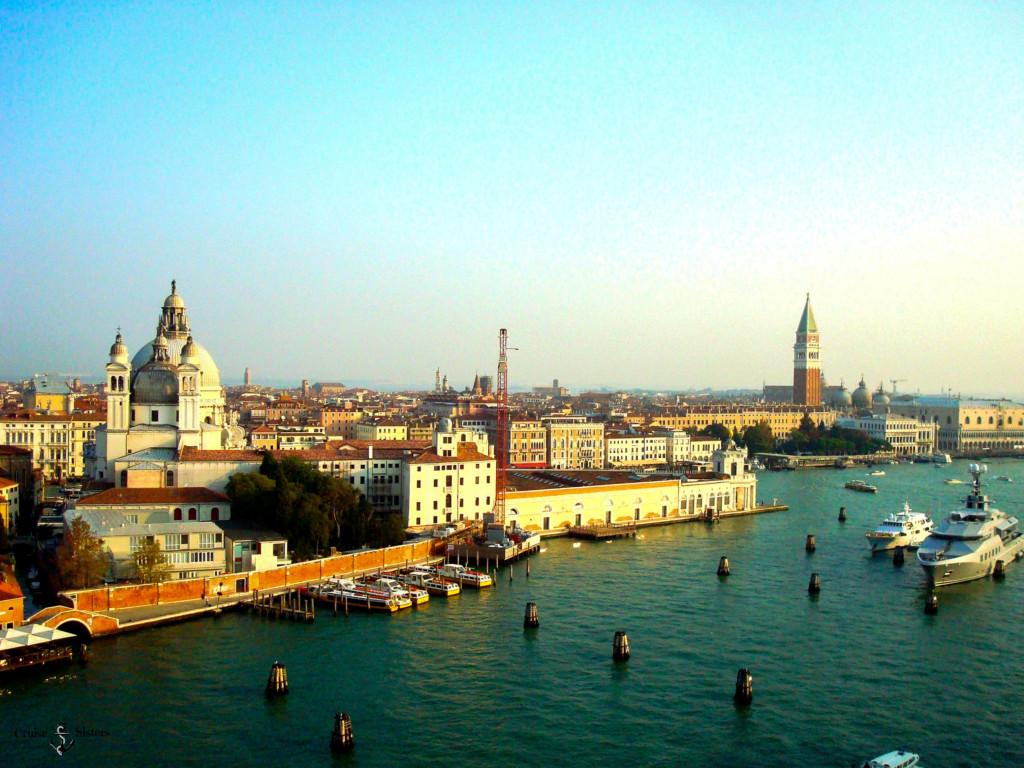 Blick über Venedig bei Ankunft