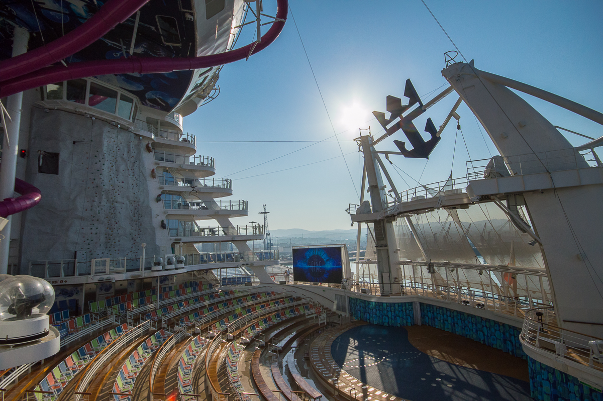 The Aqua Theater aboard the Harmony of the Seas