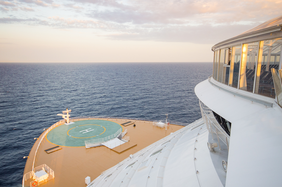 View point at the bow aboard Harmony of the Seas